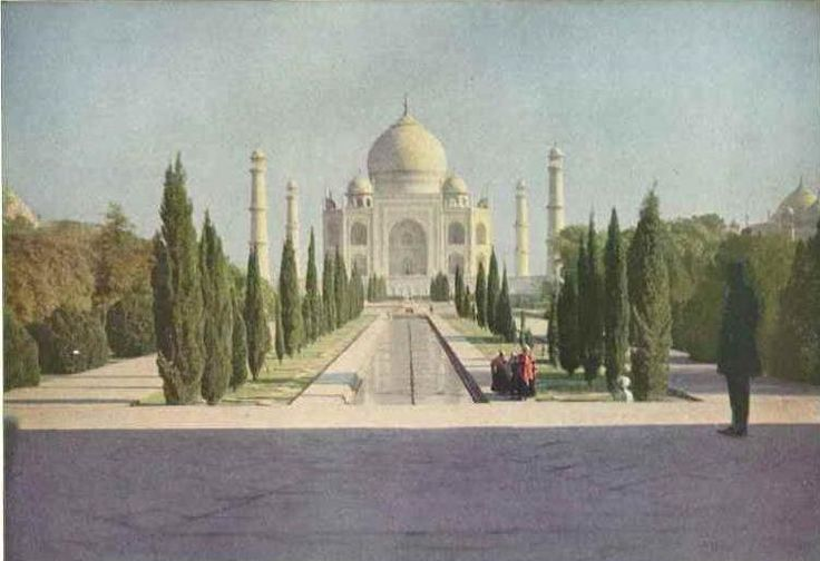The Taj Mahal, photographed in 1921 for National Geographic.
