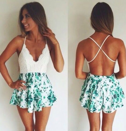 summer outfit with open back