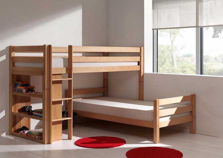 lits superpos s s parables la redoute massif bois avec tapis rouge rond au dessus de plancher de. Black Bedroom Furniture Sets. Home Design Ideas