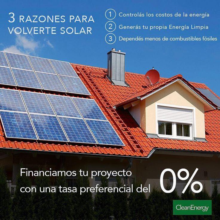 Clean Energy Argentina  Energías Renovables - Eficiencia Energética  TE OFRECEMOS FINANCIACION EXCLUSIVA PARA QUE PUEDAS ACCEDER A TU PROPIO SISTEMA SOLAR FOTOVOLTAICO GENERANDO TU PROPIA ENERGIA. CONSULTANOS POR LOS DIFERENTES PLANES Y INSTALA HOY TU SISTEMA.  Envíanos tu consulta info@cleanenergy.com.ar  Tel.: (011) 5199-4023…