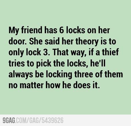 I need 4 more locks...