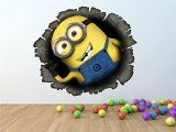 Minion Hole Despicable Me Wall Art Sticker Decal Kids (Small 24cm x 21cm)