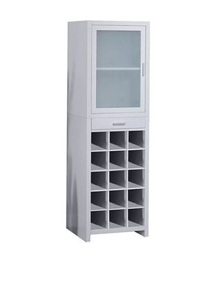 55% OFF Organize It All Wine Cabinet, White