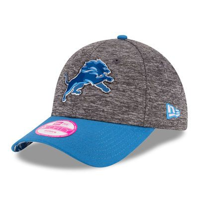 Detroit Lions New Era Women's Draft 9FORTY Adjustable Hat - Heather Gray