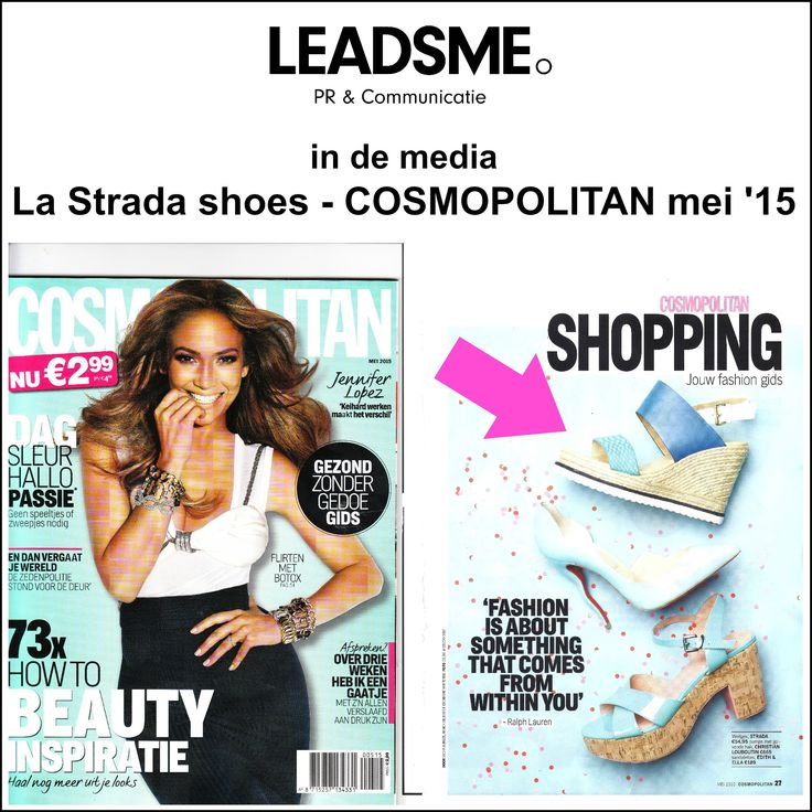 #pressclipping #indemedia Fabulous @Lastradashoes #wedges in @CosmopolitanNL May '15