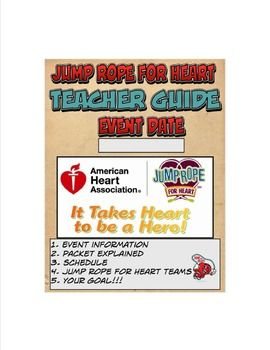 Enjoy this 6 page Teacher Guide to help you run a Successful Jump Rope for Heart Event!It can be used as a guide, made as a handout to give to teachers, or as a way to communicate with parents and students about the event!  Simply fill in your information and get those ropes turning and those hearts racing!Check out my new website for more great ideas and resourcesMr.