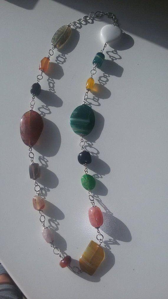Collana Multicolor in pietre dure di HandmadestyleStore su Etsy