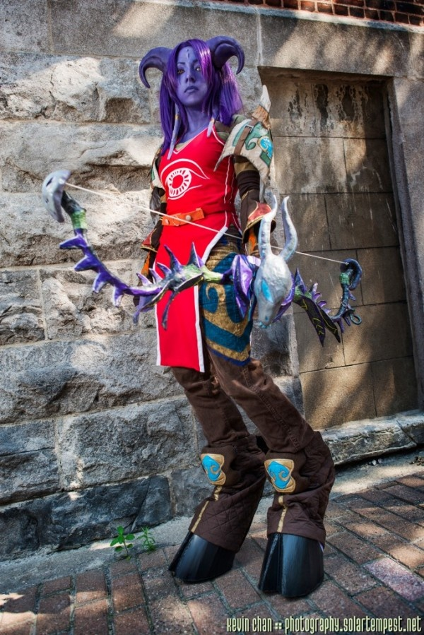 Namisan: Draenei Hunter from World of Warcraft in Otaku House Cosplay Idol 2012