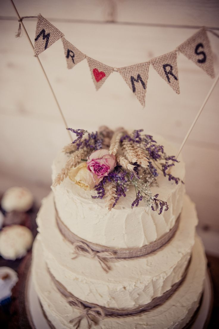 Let them eat cake rustic wedding chic - A Rustic Wedding At Newton House In Derbyshire With Bride In Sophia Tolli Gown With A Dried Flower Headpiece From The Artisan Dried Flower Co And Groom In