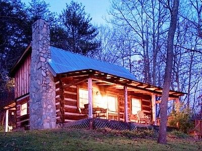 Asheville, NC cabin rental ... cozy, yet looks like a good place to be eaten by a bear.