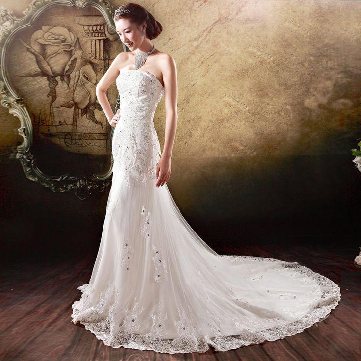Nouvelle collection de 2013 robe de mariée de princesse de petite fuite de sirène 878
