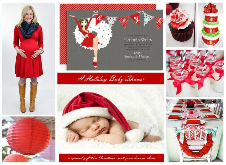 Christmas Theme Baby Shower