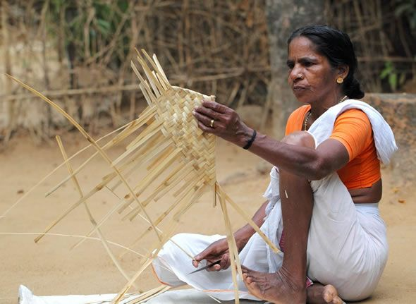 Basket weaving in Palakkad