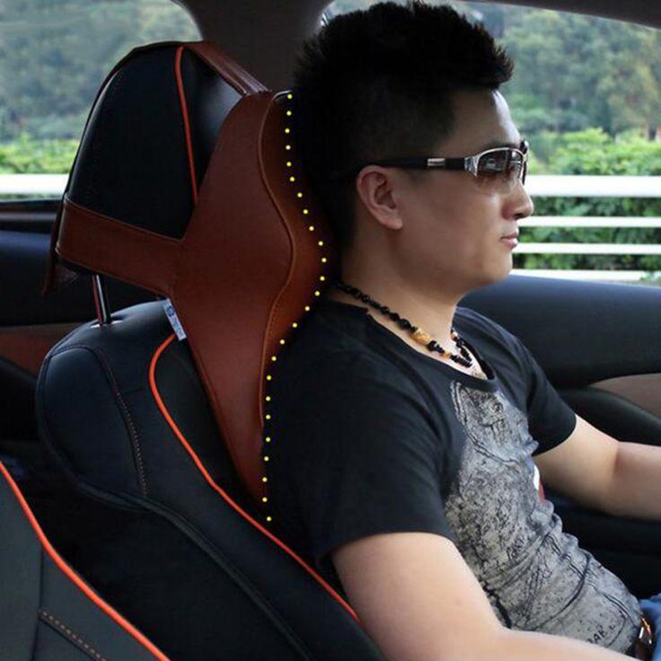 Car Headrest 3D Space Memory Foam Neck Slow Rebound Microfiber Series Car Seat Covers  Headrest Car Accessories