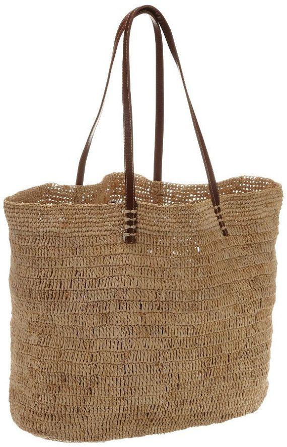 Michael Kors Santorini style Bag, raffia bag, everyday bag, beach bag
