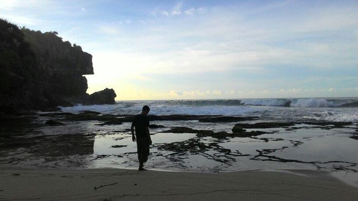 pantai Ngobaran indonesia.. yogyakarta