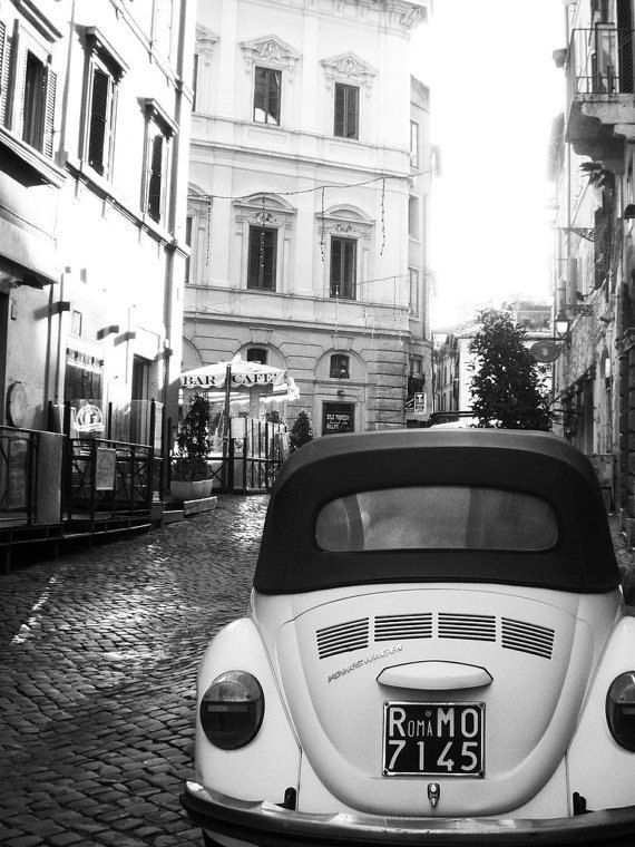 """Vintage Rome in black and white, Italy Travel Photography - Fine Art 8x10"""" Photography Print. $25.00, via Etsy."""
