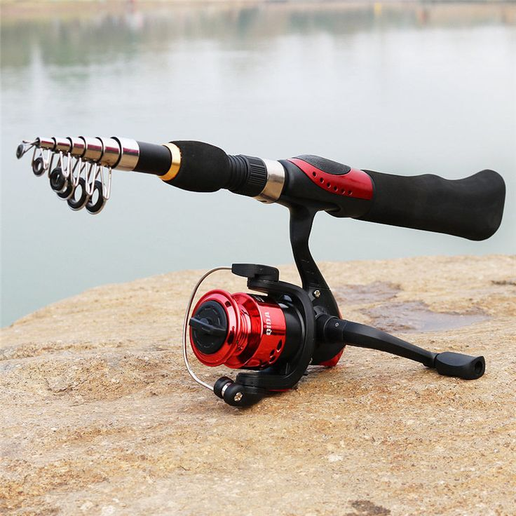 Promo Bobing Rod&Reel Combo Set 38-165cm 8 Sections Telescopic Rod And 3BB 5.2:1 Spinning Reel Portable Travel Fishing Tackle Tools #Bobing #Rod&Reel #Combo #38-165cm #Sections #Telescopic #5.2:1 #Spinning #Reel #Portable #Travel #Fishing #Tackle #Tools