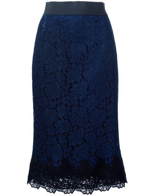 Shop Dolce & Gabbana lace skirt.