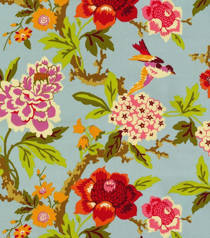 Home Decor Print Fabric- Waverly Candid Moment Glacier