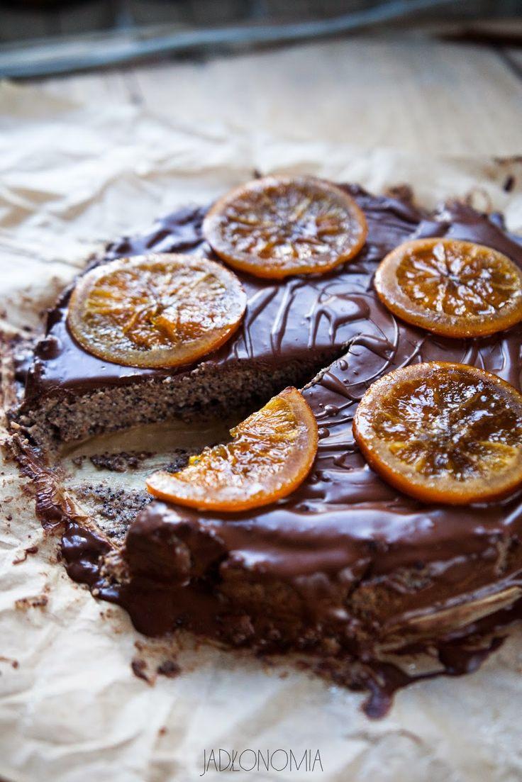jadłonomia · roślinne przepisy: Bezglutenowy makowiec w czekoladzie
