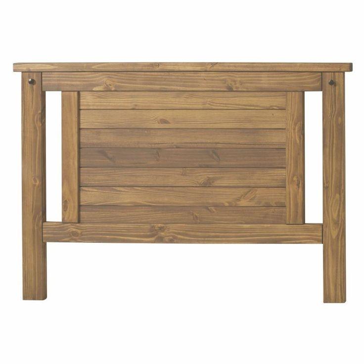 Cabeceira Para Cama Box Queen Size 158x88 Design Rústico - Madeira Maciça - Cera Mel