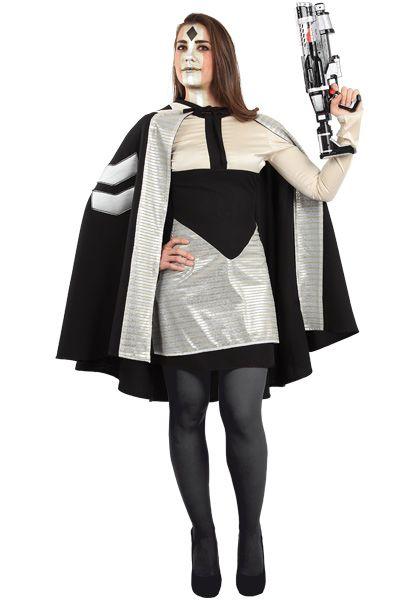 DisfracesMimo, disfraz de mujer galactica varias tallas.  Estar�s preparado para luchar contra los Jedi por gobernar el Imperio. Dirige a tu ej�rcito de galacticos en las Guerras Clon. Este disfraz es ideal para tus fiestas tem�ticas de television y cuentos para mujer. fabricacion nacional
