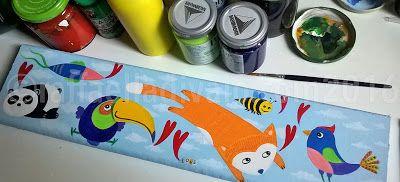 raffaelladivaio*illustrazione e creatività: COLORI SU LEGNO pittura su legno, un ottimo rimedio contro il caldo insopportabile della città. colori in corso, acrilico e collage su tavola di legno di recupero, cm. 11x47,5, spessore cm. 2. ©raffaelladivaio.com2016