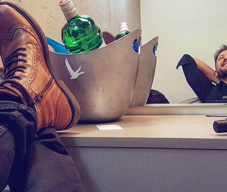 Relax mode: ON for Kostas Karafotis in #MIGATO JM204 leather boot!  Shop online ► bit.ly/JM204-M12en