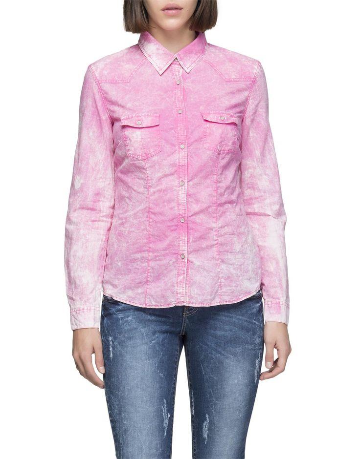 Long Sleeve Bleached Shirt