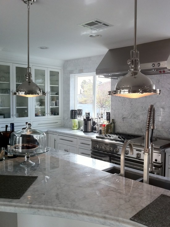 A Modern Family Eat In Kitchen...GE Monogram Appliances...Nice...