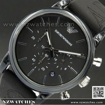 Emporio Armani Classic Black Leather Strap Men Watch AR0428