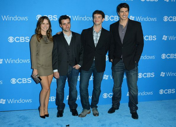 Brandon Routh Photos - (L-R) Actors Sophia Bush, David Krumholtz, Michael Urie, and Brandon Routh arrive at CBS 2012 fall premiere party held at Greystone Manor Supperclub on September 18, 2012 in West Hollywood, California. - CBS 2012 Fall Premiere Party