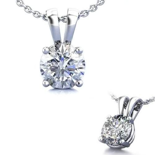 1.50 Carat Sterling 925 Silver Solitaire Pendant Slider. Top Quality Cubic Zirconia Stones. Necklace & Pendant Collection - SALE $0.01 www.jewelryandwatches.co.za