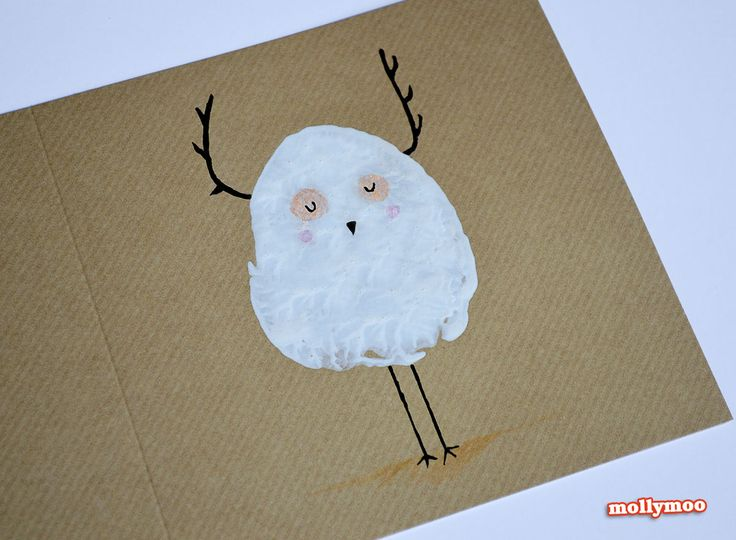 potato printed handmade christmas cards, Michelle McInerney, MollyMoo