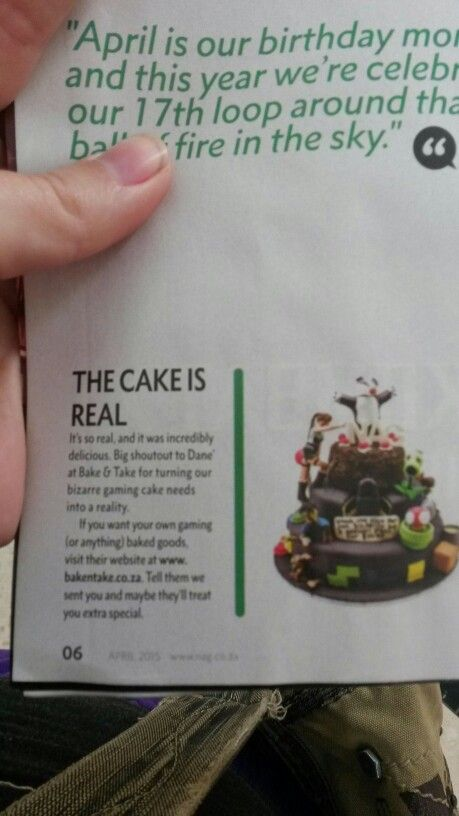 Go check out our cake in April's NAG magazine!