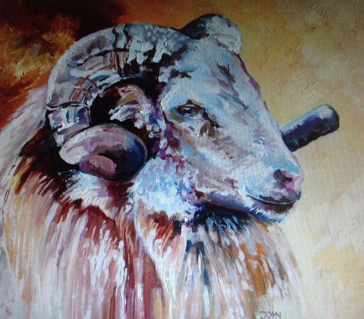 Ram - Bo / olieverf / John Karanelan