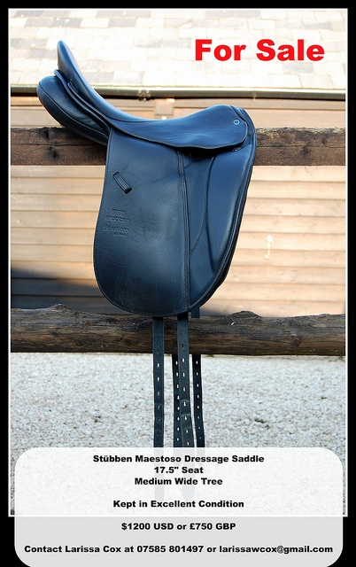 Stübben Maestoso Dressage Saddle For Sale     Comfort is in a great  saddle. Find  your next saddle: http://www.galloperz.com/store