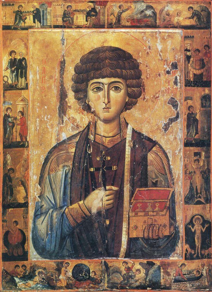 Holy-Martyr Panteleimon the Unmercenary(Vatopedi Monastery, Mount Athos, Greece) +++ San Pantaleón (Monasterio Vatopedi, Monte AthosenGrecia)