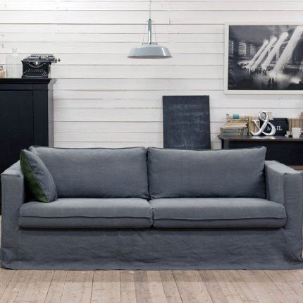 makes linen loose covers for ikea sofas house. Black Bedroom Furniture Sets. Home Design Ideas