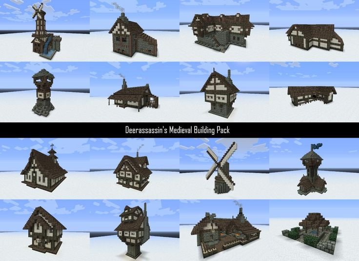 Medieval Building Pack Schems And World DL Minecraft