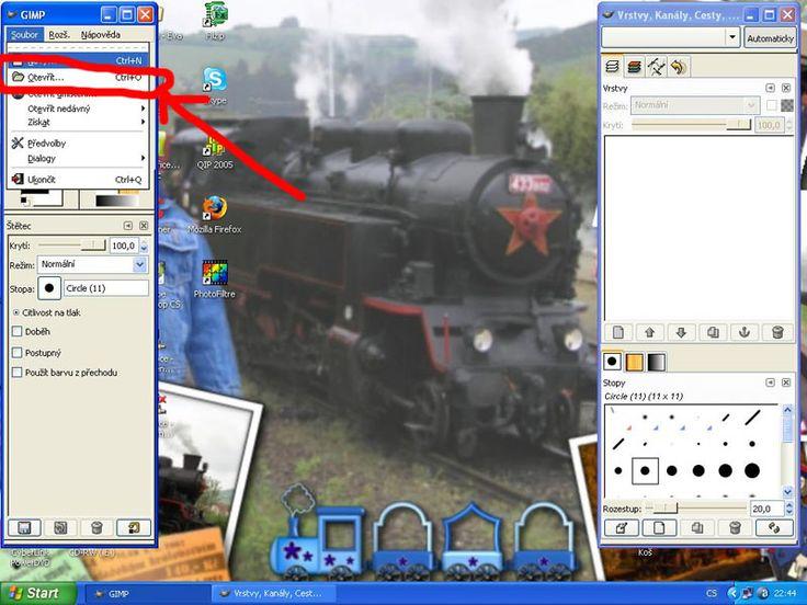 Návod na digitální koláž v GIMPU
