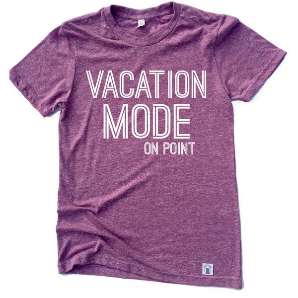 Unisex Tri-Blend T-Shirt Vacation Mode Vacation T Shirt ($21) ❤ liked on Polyvore featuring tops, t-shirts, navy, women's clothing, jersey tee, navy blue t shirt, loose t shirt, navy shirt and navy t shirt