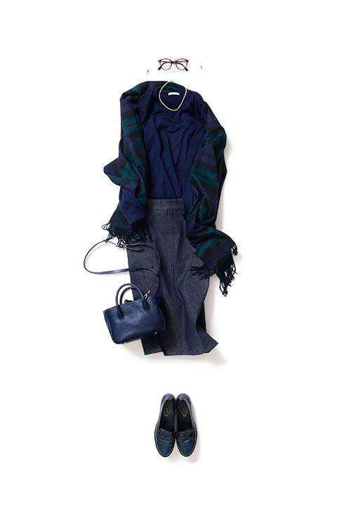 2016-03-10 デニムスカートでシンプルに色っぽく