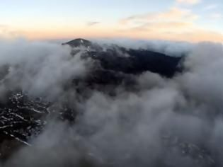 Crete: Flying Above the Clouds of Psiloritis Mountain (Video)