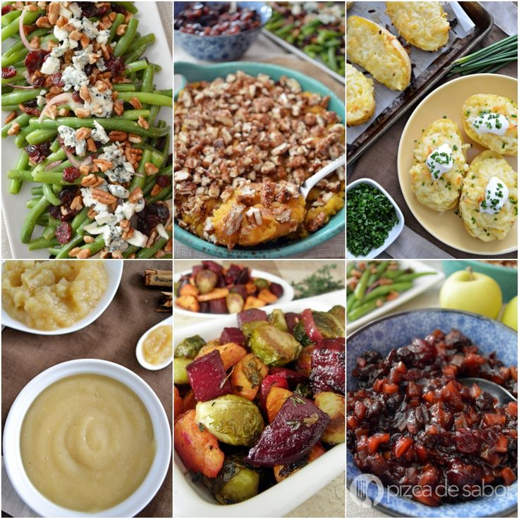 Guarniciones para Thanksgiving, Navidad o para el pavo www.pizcadesabor.com