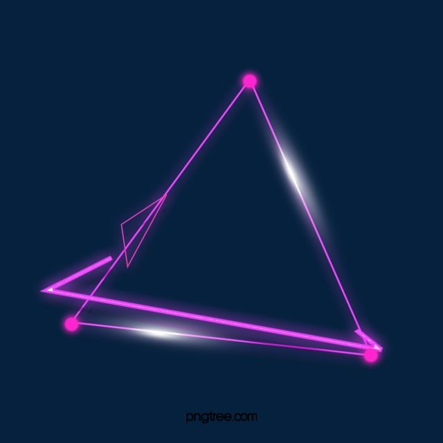 Double Triangle Purple Neon Lighting Effect Border Triangle Luminous Efficiency Geometric Png Transparent Clipart Image And Psd File For Free Download Neon Lighting Double Triangle Neon