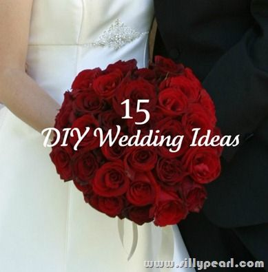 Wedding on a Budget - 15 DIY Wedding Ideas - Good ones :) And, this, my friends, is what I want my bouquet to look like.