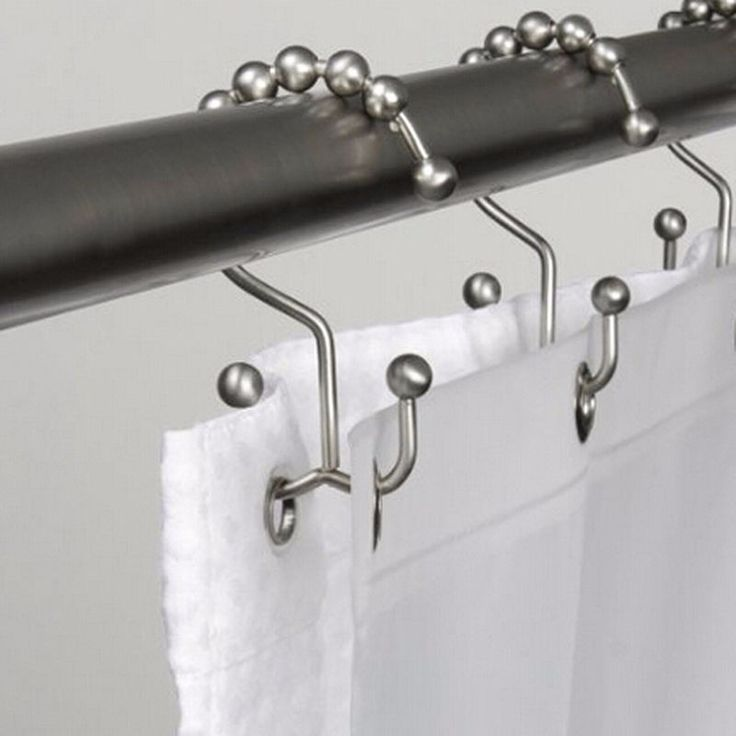 Gliding Bathroom Shower Curtain Hooks