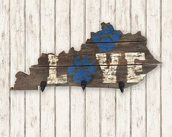 Kentucky State Cut Out Key Holder by 4DegreesCreatives on Etsy